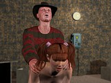Redhead teen bitch got pussy drilled hard by Freddy Kruger