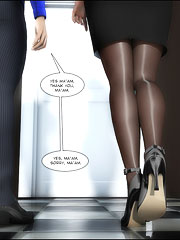 Adorable black whore fucks her new employee testing his working skills!