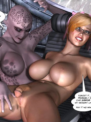 Stunning hot hardcore action session of a petite penis girl and an alien creature!