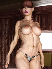 Amazing hot female bodybuilder poses nude