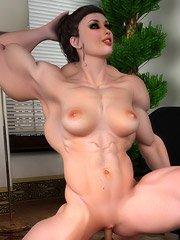 Bodybuilder slut gets fucked hard by her boyfriend