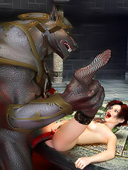 Hot glamorous vampiress fucked raw by a dangeous werewolf