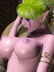 Busty slender 3D princess screwed by the hardcore and ugly monsters