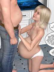 Hot dude cheats on his wife with his cute pregnant step daughter!